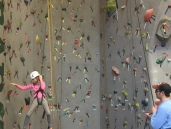 Rock climbing at Kieve